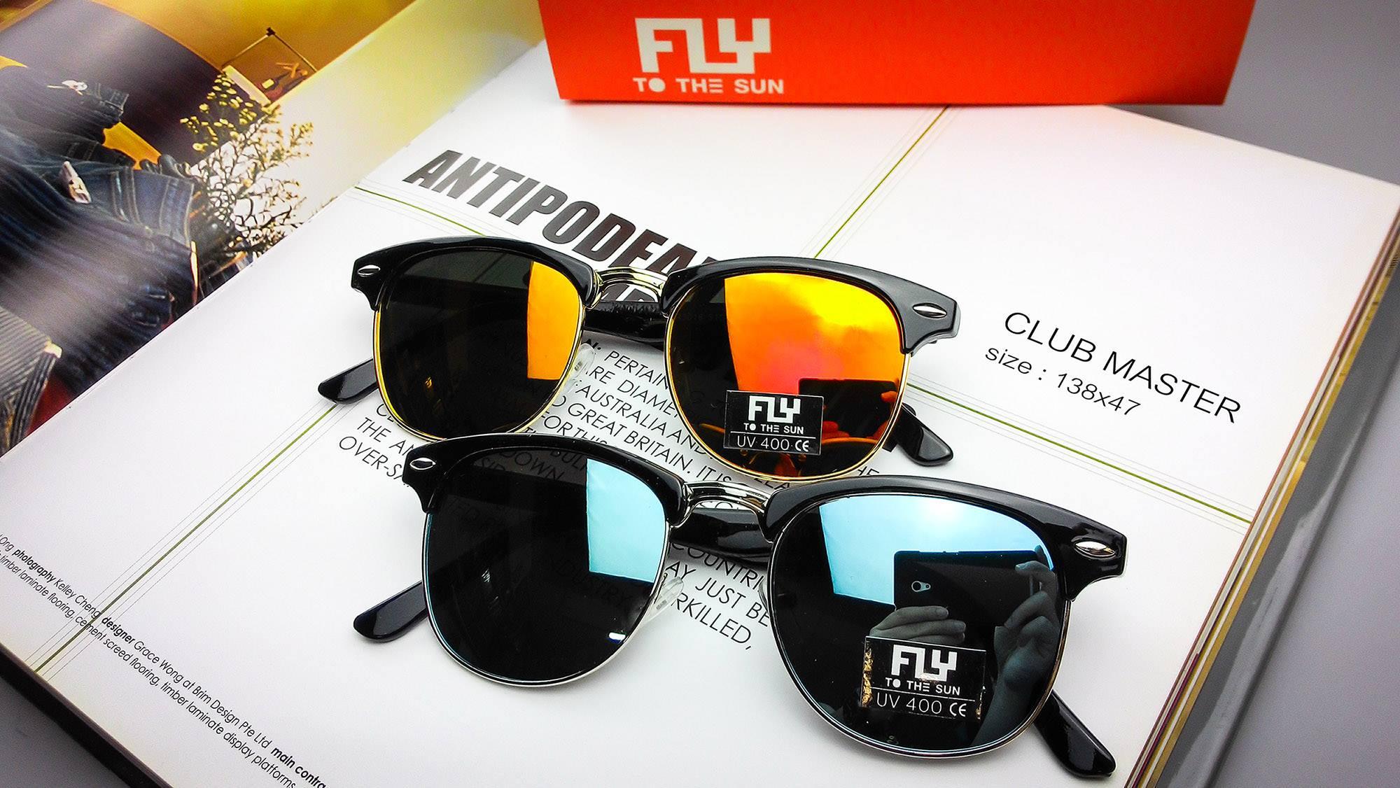 [พร้อมส่ง] แว่นกันแดด Fly to the sun รุ่น Club Master