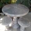 โต๊ะหินอ่อนขนาด 80 เซนติเมตร เก้าอี้ 4ตัว โต๊ะสูง 80 เซนติเมตร