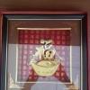 กรอบรูปทองเค อักษรจีน ขนาดกว้าง 10 นิ้ว สูง 10 นิ้ว