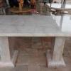 โต๊ะหินอ่อนสี่เหลี่ยม ขนาด กว้าง 100 เซนติเมตร ยาว 170 เซนติเมตร สูง 80 เซนติเมตร (มีเสาสองขา)