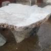 โต๊ะหิน ธรรมชาติ สีขาว กว้าง 100 ยาว 50 ซม. โต๊ะสูง 67 เซนติเมตร เก้าอี้ 4 ตัว