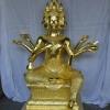 พระพรหม ปิดทองคำเปลว (ทองคำแท้) ขนาดสูง 12 นิ้ว