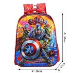 กระเป๋าเป้เด็ก กระเป๋าเด็กลายการ์ตูน กระเป๋าเป้เด็ก กระเป๋าสำหรับเด็กอนุบาล กระเป๋าสำหรับเด็กประถม น่ารักๆ captain america (5)