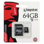 MICRO SD CARD KINGSTON 64GB Class10