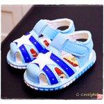 รองเท้าเด็ก พื้นยางกันลื่น รองเท้าแฟชั่นเกาหลี รองเท้าเด็กชาย รองเท้าเด็กหญิง รองเท้าเด็กเล็ก พร้อมส่ง ฟ้า ไซต์ 19