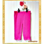 เสื้อผ้าเด็ก กางเกงเด็ก กางเกงเลกกิ้ง ลายลูกไม้สีชมพู