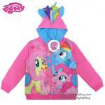เสื้อแจ็คเก็ต My Little Pony เสื้อกันหนาว เด็กผู้หญิง สีชมพู รูดซิป มีหมวก(ฮู้ด) ใส่คลุมกันหนาว กันแดด สุดเท่ห์ ใส่สบาย ลิขสิทธิ์แท้ (ไซส์ L)