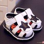 รองเท้าเด็ก รองเท้าแตะเด็ก รองเท้าเด็กวัยหัดเดิน สีขาว size 19