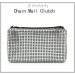 Chain Mail Clutch กระเป๋าเครื่องสำอางค์ Modern Trendy ทันสมัย ทำจากอลูมิเนียม ของแท้