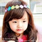 ผ้าคาดผมเด็ก ลายลูกไม้ดอกไม้ สีสายรุ้ง หลากหลายสี น่ารัก