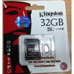 MICRO SD CARD KINGSTON 32GB Class10