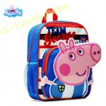 Peppa Pig Kids Backpack เป๊ปป้าพิก กระเป๋าเป้เด็ก กระเป๋าสำหรับเด็กอนุบาล น่ารักๆ สีฟ้า