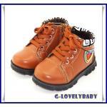 รองเท้าเด็ก รองเท้าบูทเด็ก รองเท้าหนังพื้นยาง รองเท้าบูทเด็กชาย สไตล์เท่ห์ สำหรับเด็กอายุ 3-6 ปี