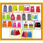 เสื้อผ้าเด็ก ผ้าไหมพรม สไตล์เกาหลี Set B
