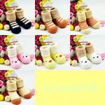 ถุงเท้าเด็ก ถุงเท้าเด็กเล็ก สวมใส่กันหนาว สินค้าเกาหลี ผ้าเทอรี่หนานุ่ม ลายการ์ตูนน่ารัก 1-3 ขวบ