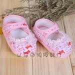 รองเท้าเด็ก รองเท้าเด็กอ่อน รองเท้าเด็กทารก สีชมพู size 13