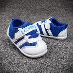 สีน้ำเงิน รองเท้าเด็ก พื้นยางกันลื่น รองเท้าสไตล์กีฬา ไซต์ 19 (13.5)