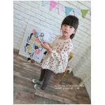 ชุดเด็กหญิง แขนยาว ชุดกระโปรงเด็กหญิง สไตล์เกาหลี สีครีม น่ารัก (4-6ขวบ)