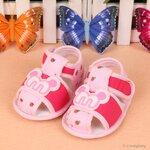รองเท้าเด็ก รองเท้าเด็กอ่อน รองเท้าเด็กทารก รองเท้าเด็กวัยหัดเดิน รองเท้านุ่มพื้นกันลื่น M สีชมพู size 11