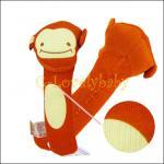 ของเล่นเด็กทารก ของเล่นเสริมพัฒนาการเด็ก ตุ๊กตาของเล่นเด็กอ่อน ตุ๊กตารูปสัตว์ปี๊ปๆ ลิงสีน้ำตาล