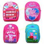 Kids Backpacks , Kindergarten Backpacks , Peppa Pig Kids Backpacks เป๊ปป้าพิก กระเป๋าเป้เด็ก กระเป๋าสำหรับเด็กอนุบาล น่ารักๆ พร้อมส่ง