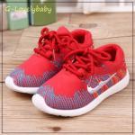 รองเท้าเด็ก รองเท้าผ้าใบเด็ก รองเท้าเด็กวัยหัดเดิน รองเท้าเด็กเล็ก สไตล์นักกีฬา พื้นยางกันลื่น Baby Shoes 1-4 ขวบ พร้อมส่ง