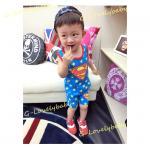 ชุดเด็ก เสื้อกล้ามเด็ก และ กางเกงขาสั้นเด็ก ซุปเปอร์แมน superman 100cm