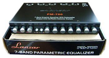ปรีแอมป์รถยนต์ 7 แบนด์ ยี้ห้อ LANZAR รุ่น PM-700