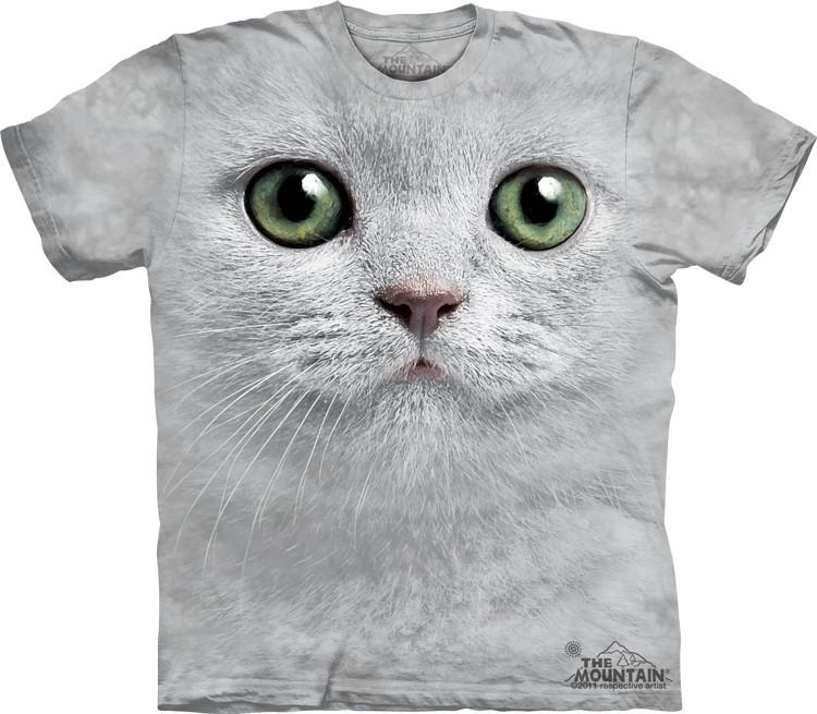 Pre.เสื้อยืดพิมพ์ลาย3D The Mountain T-shirt : Green Eyes Face