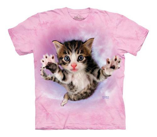 Pre.เสื้อยืดพิมพ์ลาย3D The Mountain T-shirt : Pounce Chicken Kids T-Shirt