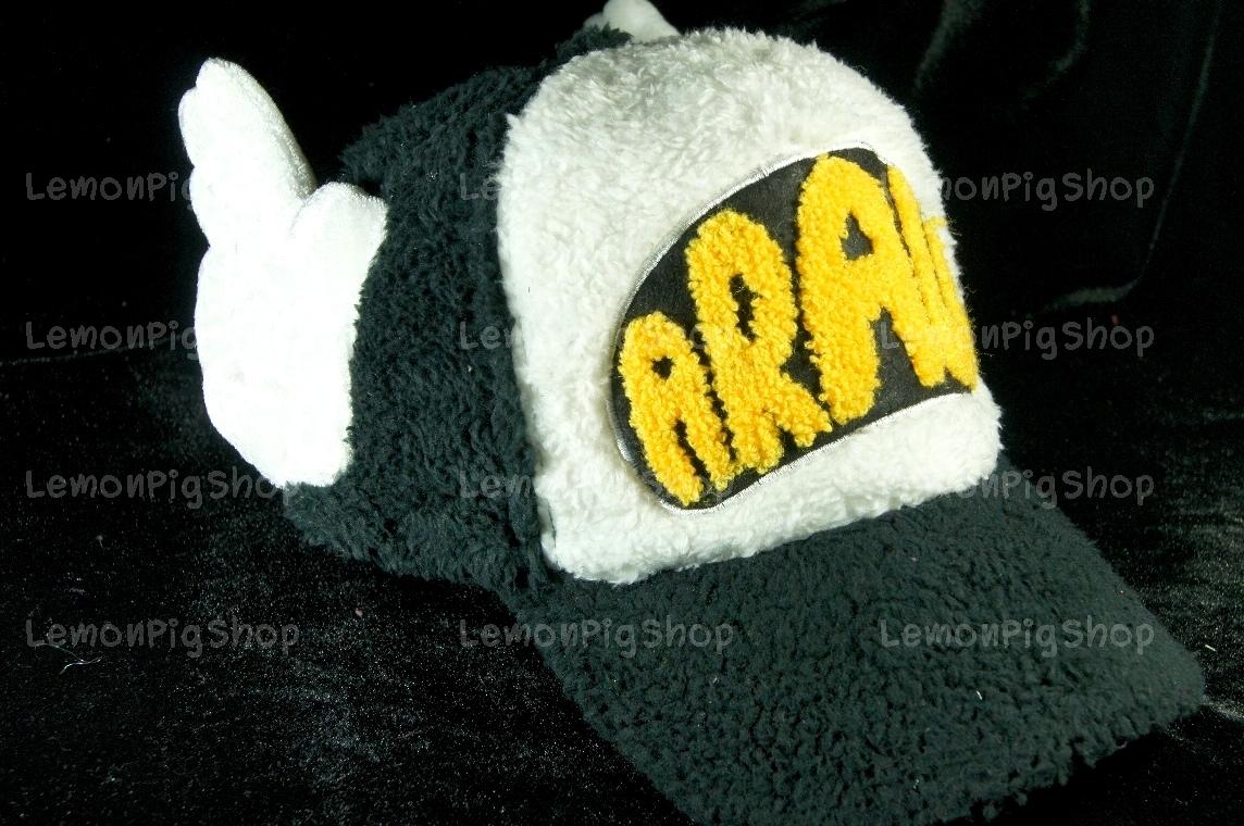 หมวก ARALE อาราเล่ รุ่นขนปุย สีดำ