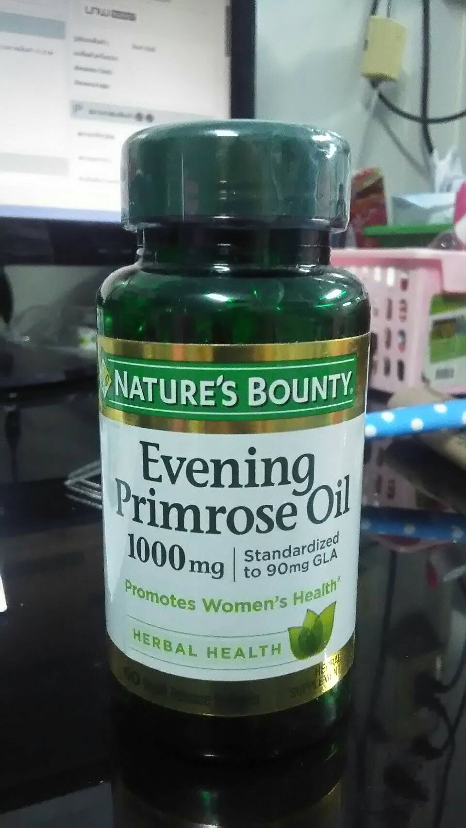พร้อมส่งค่ะ nature's bounty evening primrose oil 1000 mg 60 softgels