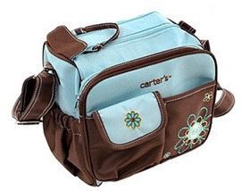 กระเป๋าใส่ของใช้เด็ก แบรนด์ carter's สะพายใบเล็ก ปักลายดอกไม้/หัวใจ