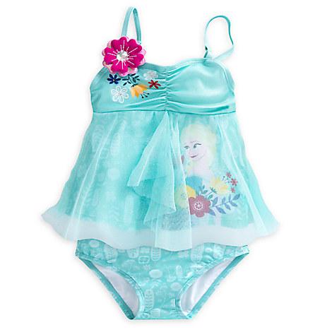 Elsa Deluxe Swimsuit for Girls - 2-Piece from Disney USA ของแท้100% นำเข้า จากอเมริกา