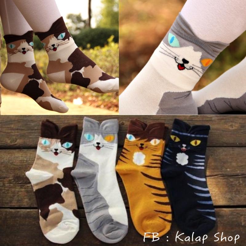 [Preorder] เซ็ทถุงเท้าแมว 4 คู่