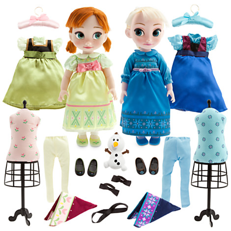 """z Frozen Elsa and and Anna 16"""" animators - deluxe Gift Set"""
