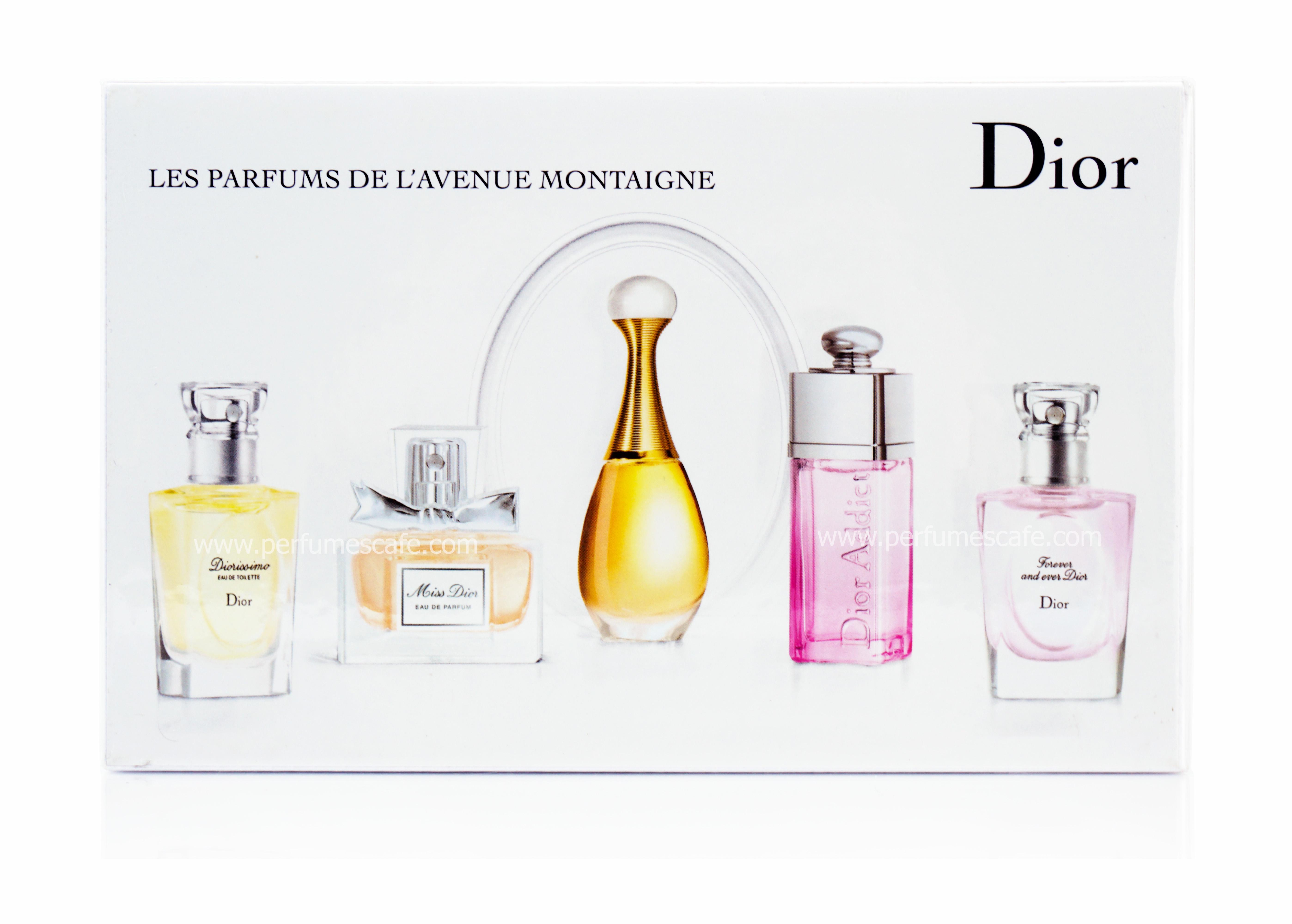เซ็ตน้ำหอม Christian Dior Les Parfum Miniature ขนาด 7ml x 5 บรรจุกล่องซีล