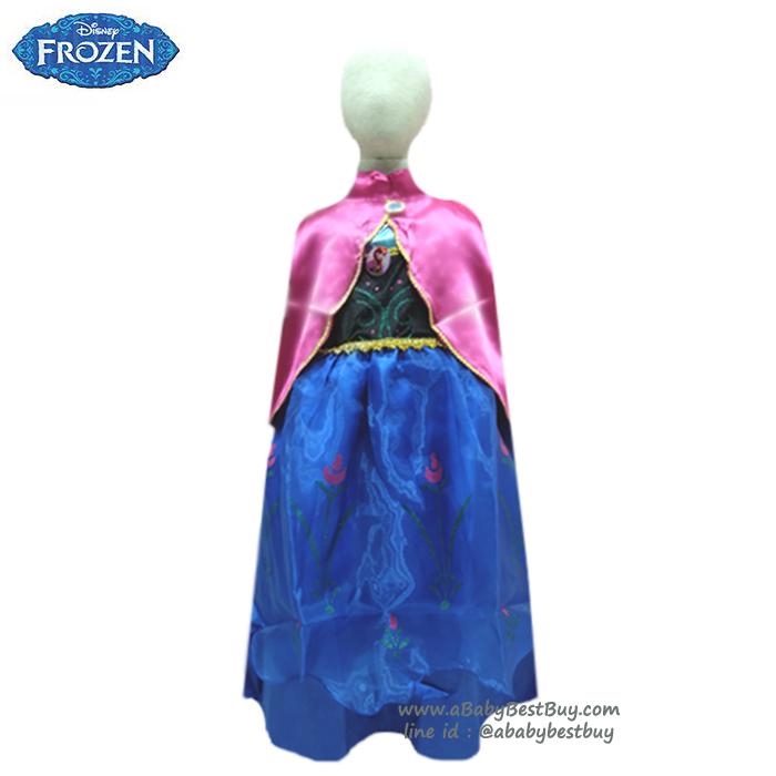 """""""ชุดเดรส เจ้าหญิงอันนา ชุดแฟนซีเจ้าหญิง Frozen ชุดแฟนซีเจ้าหญิง ผ้าดี ใส่สบาย (สำหรับเด็กอายุ 3-8 ปี)"""