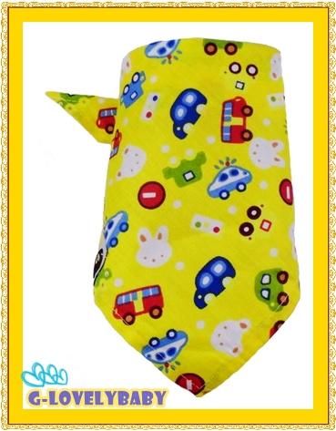 สินค้าแม่และเด็ก ผ้ากันเปื้อน ผ้าพันคอ ผ้าโพกหัว ผ้าเช็ดน้ำลาย ทำได้หลายสิ่งหลายอย่างเพื่อการแต่งตัว สีเหลือง