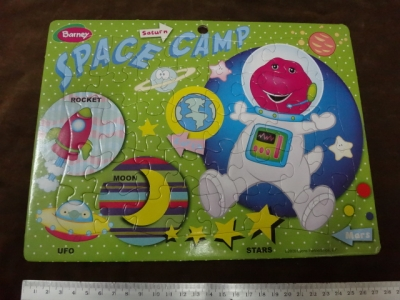 จิ๊กซอว์ 40 ชิ้น Barney (space camp)