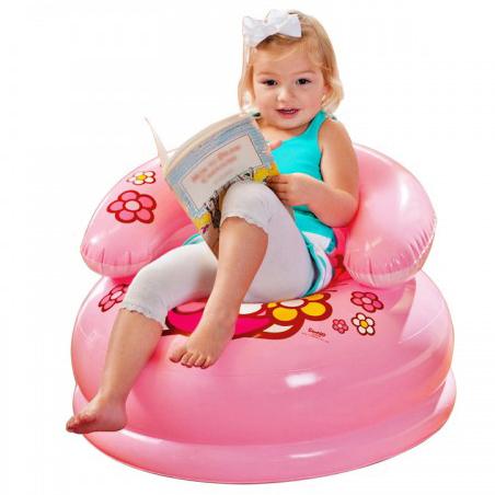 Kitty Kids Chair , Age3-8 โซฟาเป่าลม คิตตี้ สีชมพู 48508 คิตตี้แท้ ลิขสิทธิ์แท้
