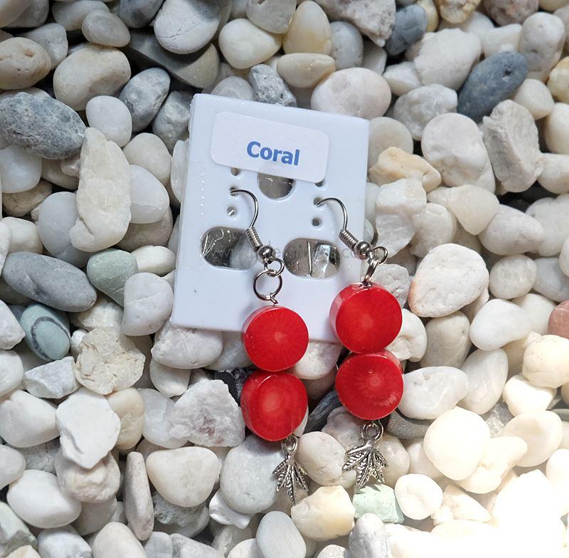 ++ ต่างหู Coral (dyed) ปะการัง (ย้อมสี) ++