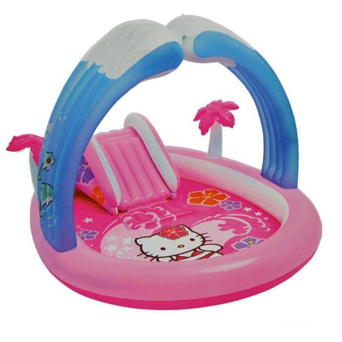 Kitty Play Center , Age2+ สวนน้ำเด็กเล่นเป่าลม ลายคิตตี้ สำหรับเด็ก 57137 คิตตี้แท้ ลิขสิทธิ์แท้