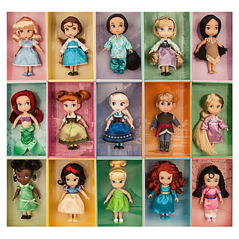 z Disney Animators' Collection Mini Doll Gift Set - 5''