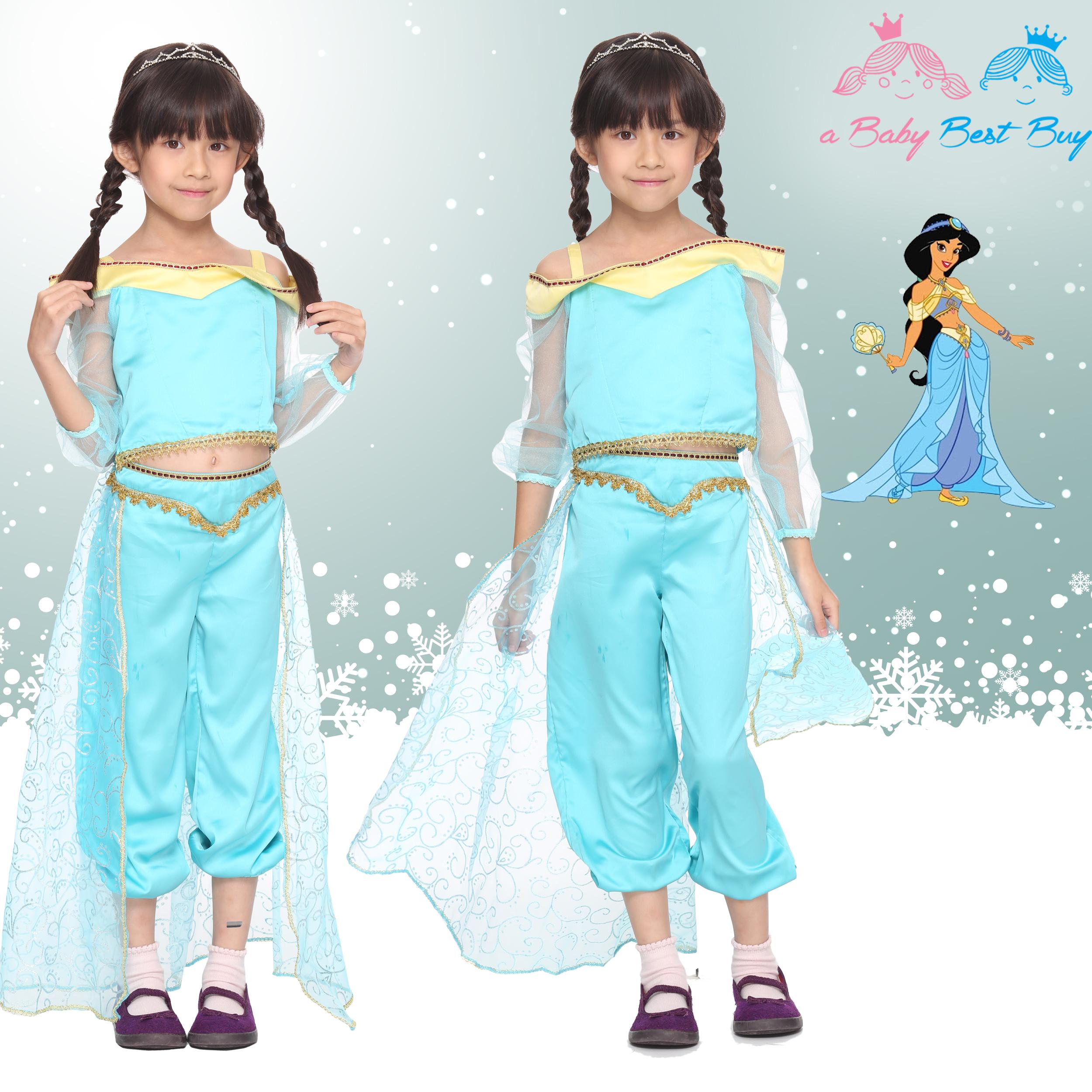 """"""" ชุดแฟนซี Jasmine Princess ชุดแฟนซีเจ้าหญิง ชุดแฟนซีเด็ก เจ้าหญิงจัสมิน ผ้าดี ใส่สบาย (สำหรับเด็กอายุ 2-9 ปี)"""