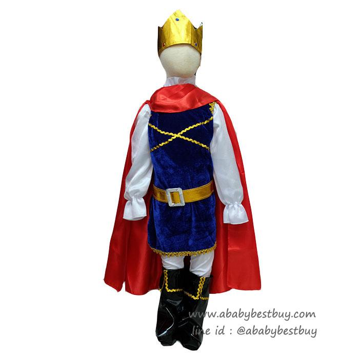 """"""" ชุดแฟนซี เจ้าชายPrince พระราชาคู่สมรสเจ้าหญิงสโนไวท์ ชุดเสมือนจริง (สำหรับเด็กอายุ 2-10 ปี)"""
