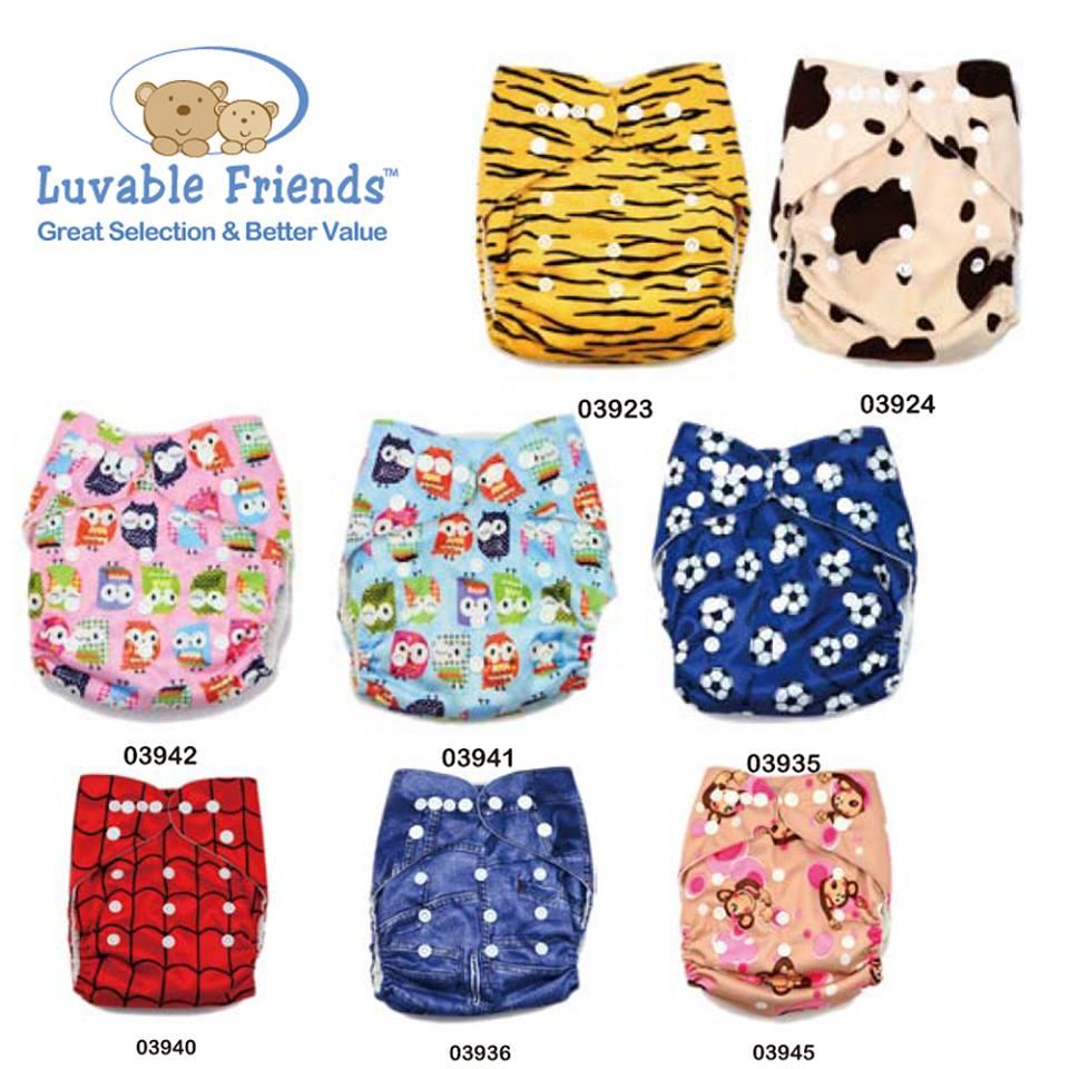 Luvable Friends กางเกงผ้าอ้อม แบบซักได้ ขนาดสำหรับเด็กแรกเกิด - 2 ปี ปรับขนาดได้