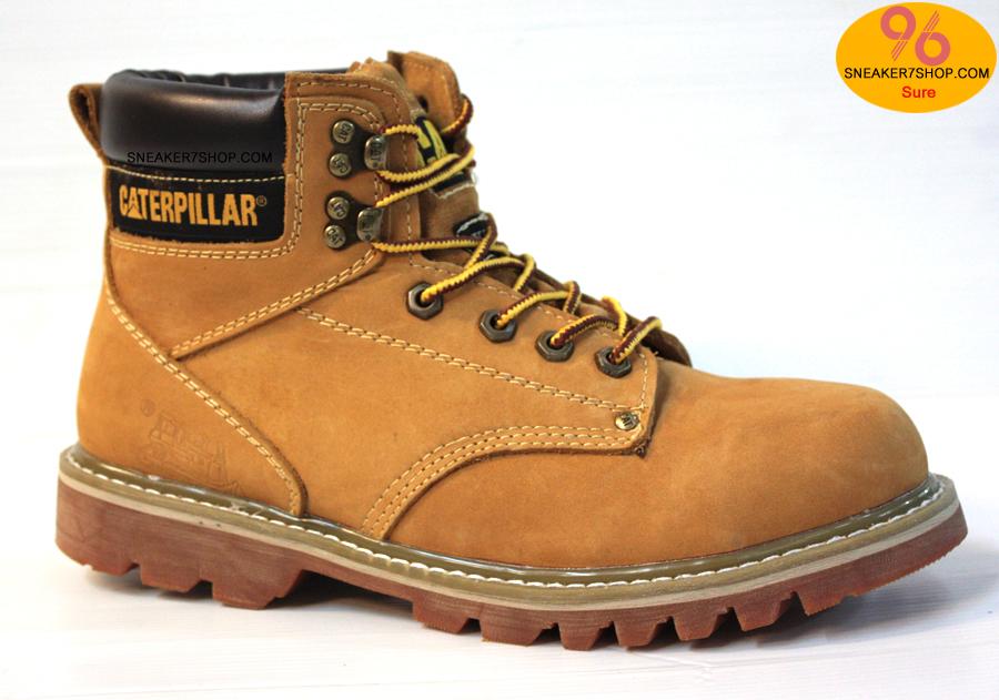 """รองเท้า CATERPILLAR CAT SECOND SHIFT 6"""" STEEL TOE น้ำตาลเหลือง หนังด้านชามัวร์ รองเท้าเซฟตี้ หัวเหล็ก size 40-45 สินค้าใหม่"""