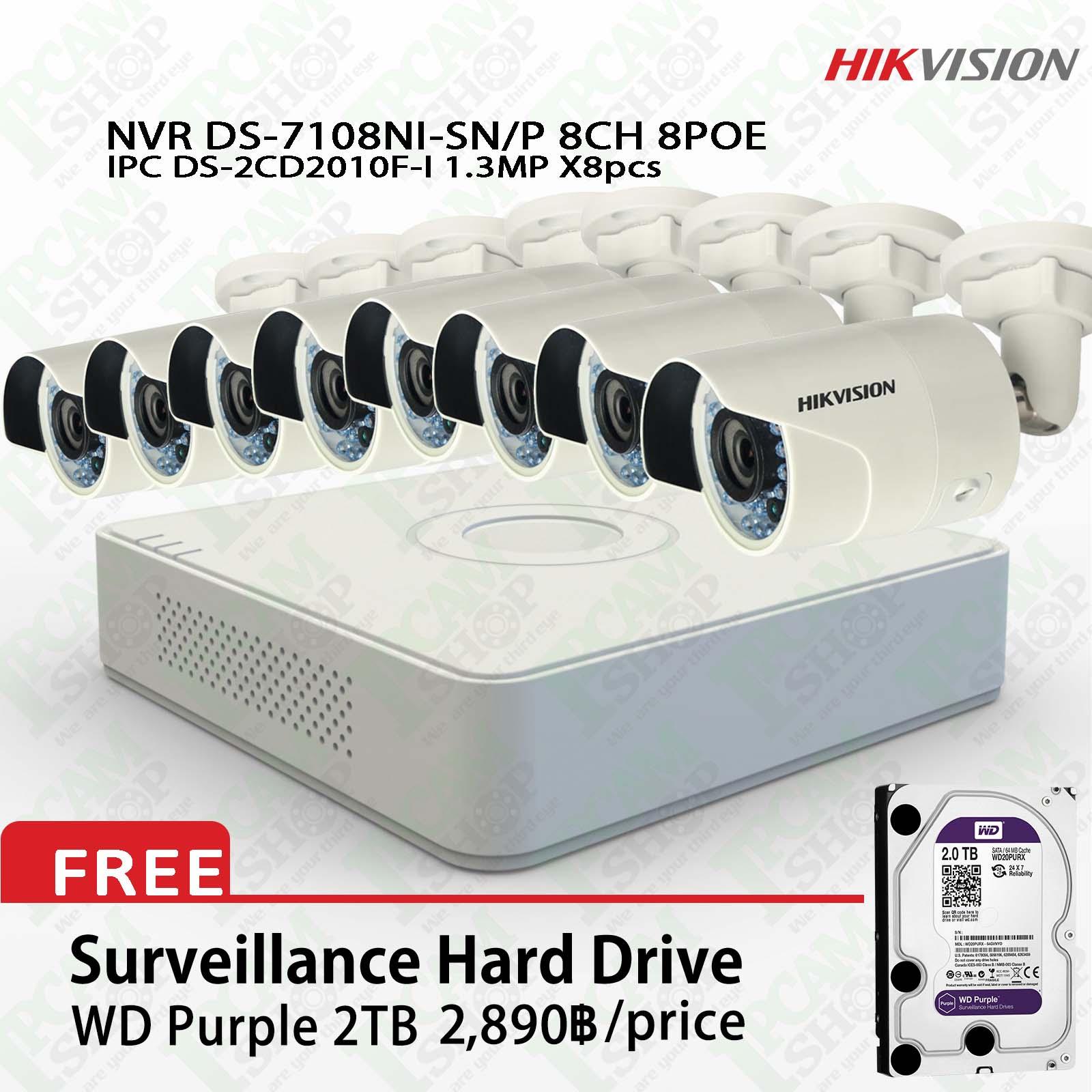 Hikvision POE Kit DS-7108NI-SN/P, DS-2CD2010F-Ix8