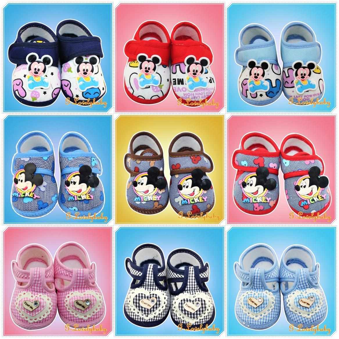 รองเท้าเด็กวัยหัดเดิน รองเท้าเด็ก รองเท้าเด็กทารก รองเท้าเด็กนุ่มพื้นกันลื่น (0-1ขวบ)